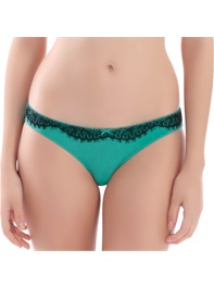 Women's Classic Brief Panty Lace Micro Fiber Lake Blue