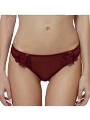 Women's Sexy G-string Panty Burgundy Romantic Angel Lace
